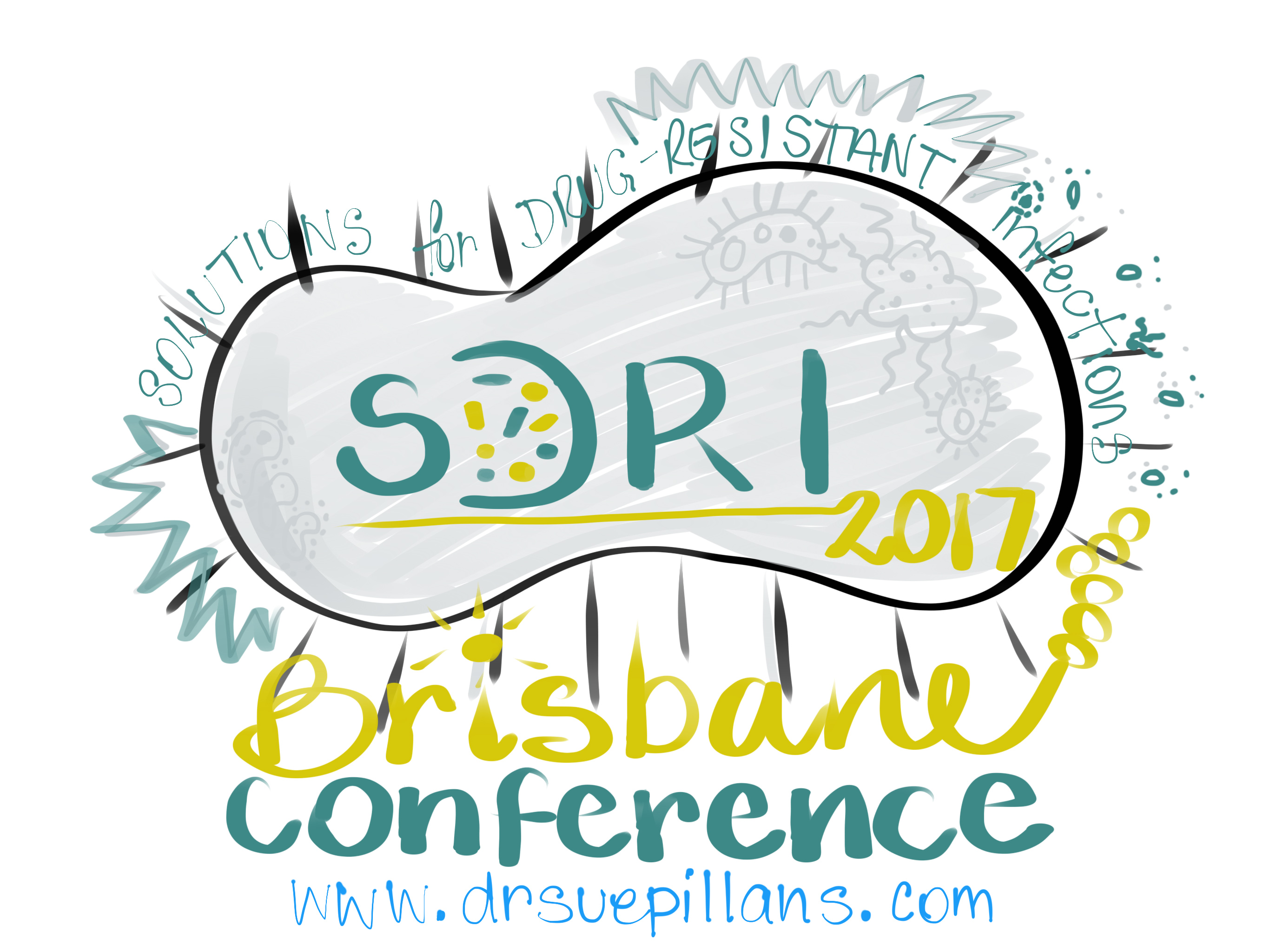 SDRI 2017 logo drawn by Sue Pillans